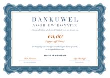 Donatie Dierenrechten: 5 Euro