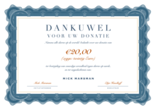 Donatie Dierenrechten: 20 Euro