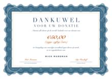 Donatie Dierenrechten: 50 Euro
