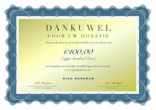 Donatie Dierenrechten: 100 Euro